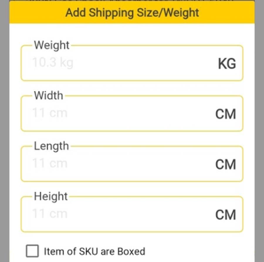 SKU Measurements